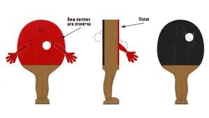Эскиз ростовой куклы ракетка, костюма ракетки