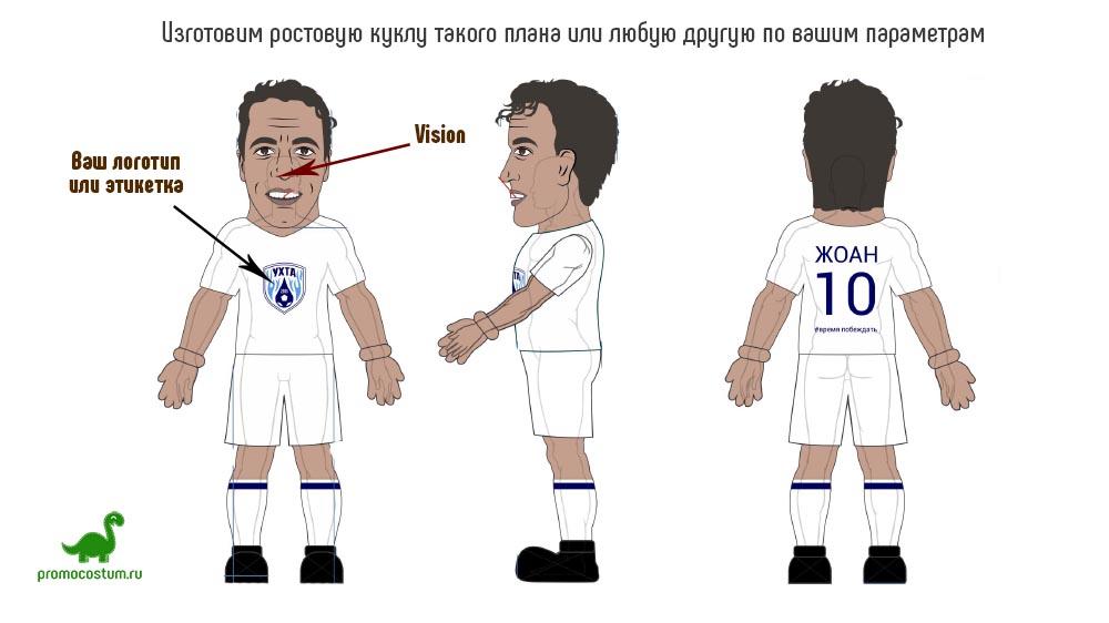Пример эскиза - ростовая кукла футболист