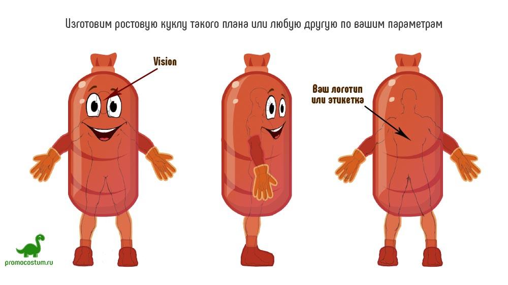 Пример эскиза - ростовая кукла колбаса