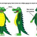 ростовая кукла крокодил, костюм крокодила