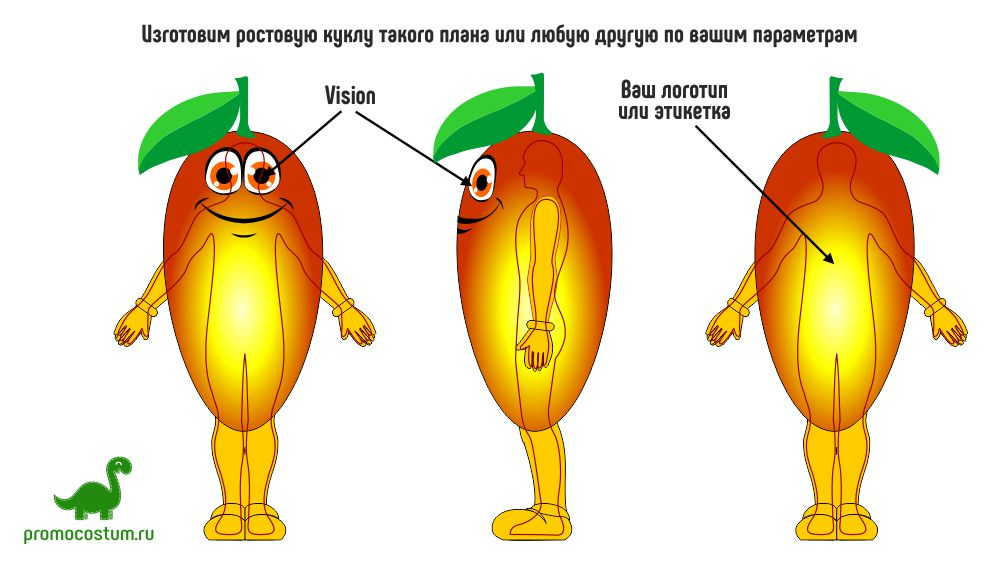 ростовая кукла манго, костюм манго