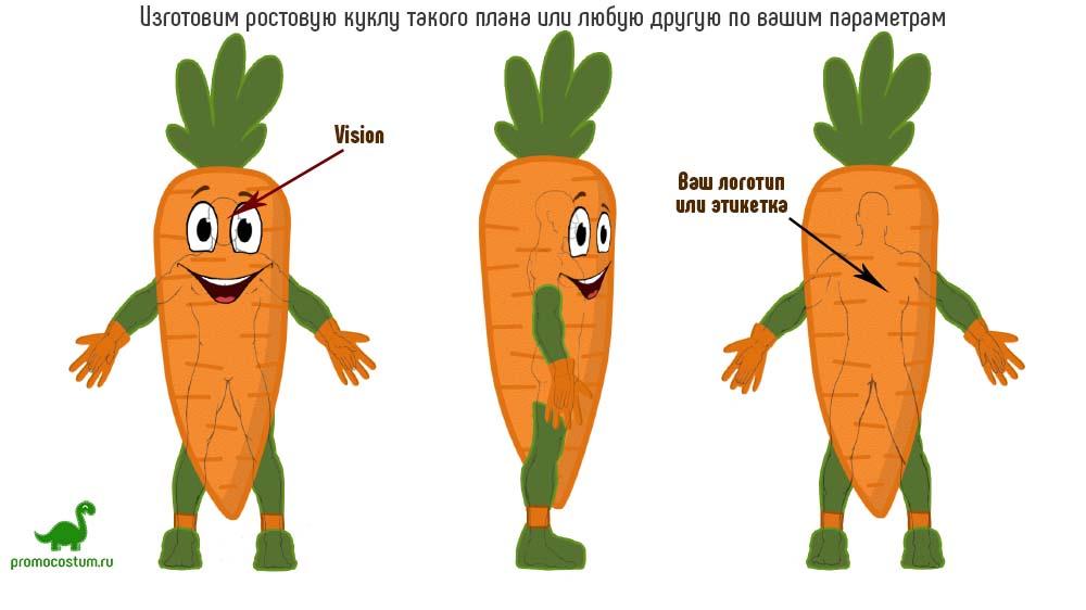 Пример эскиза - ростовая кукла морковьрковь