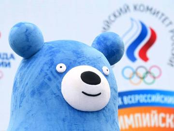 Статья: талисманы сборной России на Всероссийском Олимпийском дне в Лужниках